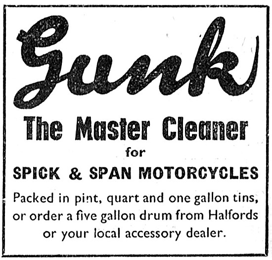 Gunk Motor Cycle Cleaning Solvent