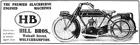 Hill Brothers Motorcycles - HB Blackburne Motor Cycle 1921
