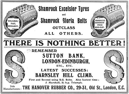 Hanover Rubber Shamrock-Gloria Belts - Shamrock-Excelsior Tyres