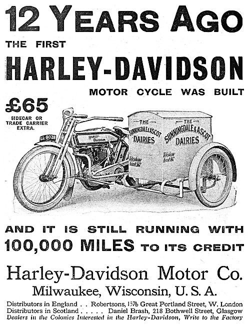 Sunningdale & Ascot Dairy Harley-Davidson Commercial Combination