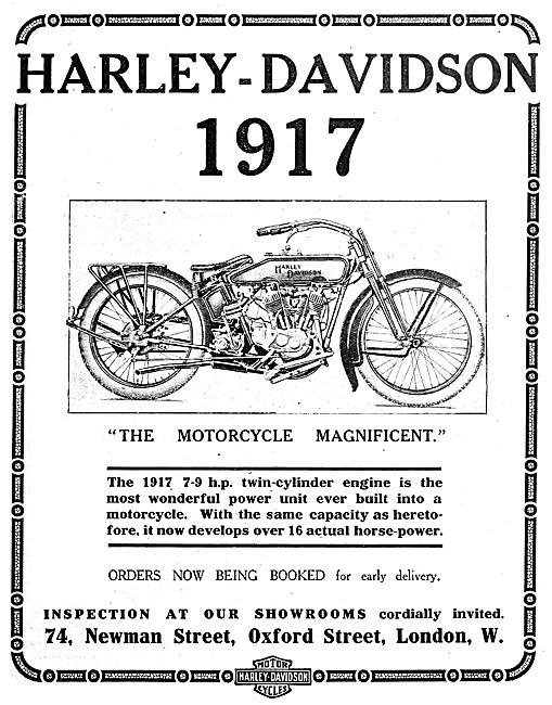 Harley-Davidson 7-9 hp Motor Cycle 1916