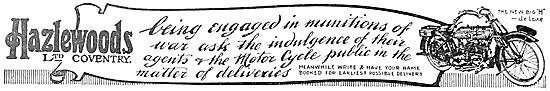 1915 Hazlewoods Big H De Luxe Motor Cycle