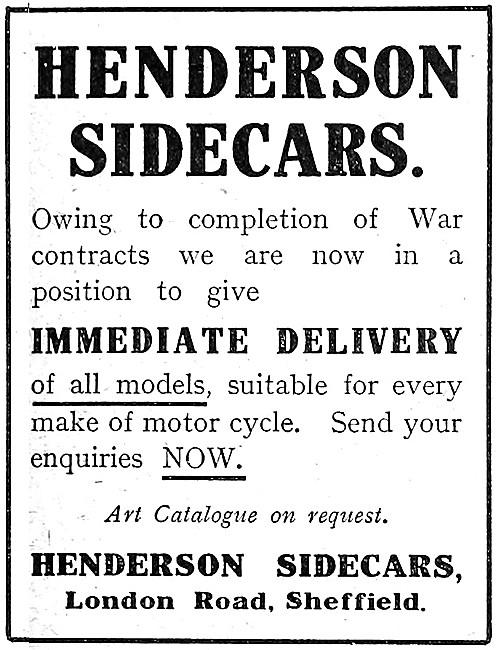 Henderson Sidecars 1916