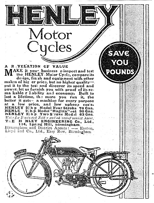 Henley Motor Cycles 1921