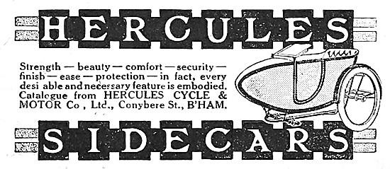 1916 Hercules Sidecars