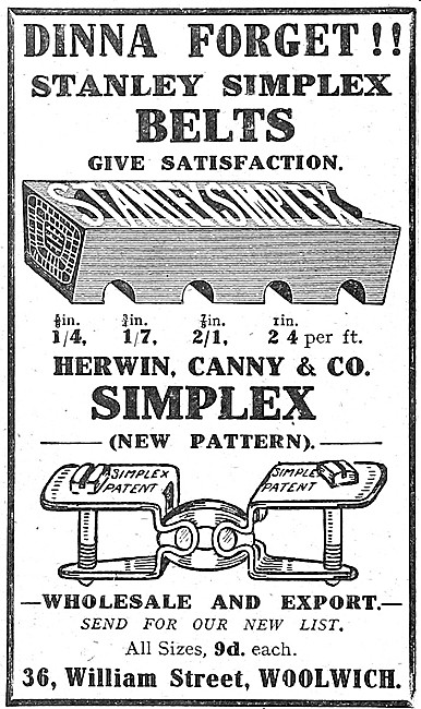 Herwin Canny Simplex Belts & Fasteners