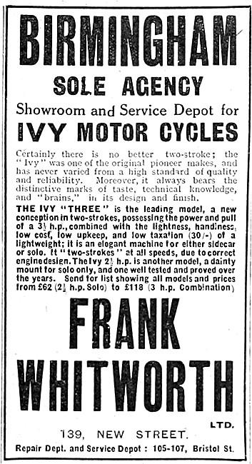 Ivy Motor Cycles - IVY Three Motor Cycle