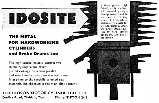 Idoson Air-Cooled Cylinder Castings - Idosite Cylinder Castings