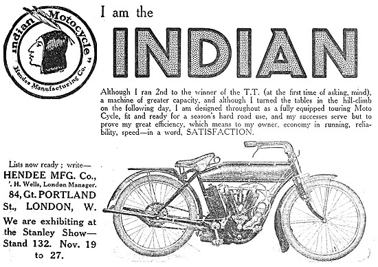 1909 V Twin Indian Motor Cycle