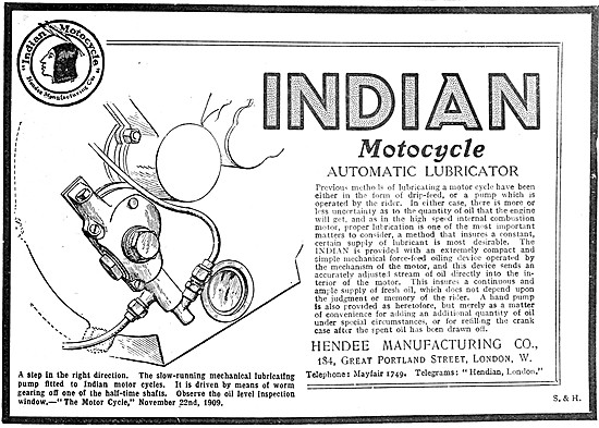 1909 Indian Motor Cycle Automatic Lubricator