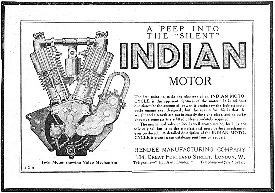 1910 Indian V Twin Motor Cycle Engine