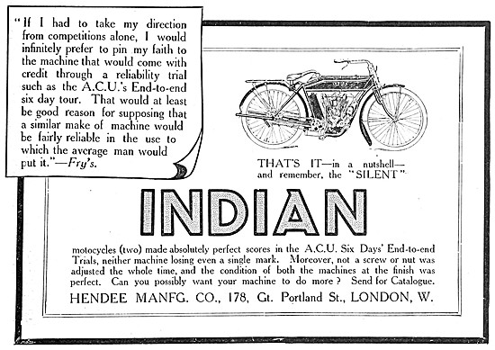 Indian V Twin Motor Cycles