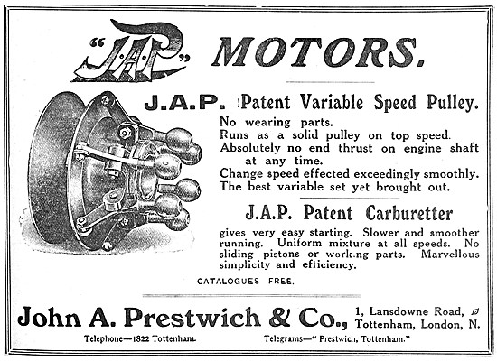 J.A.P. Variable Speed Motor Cycle Pulley