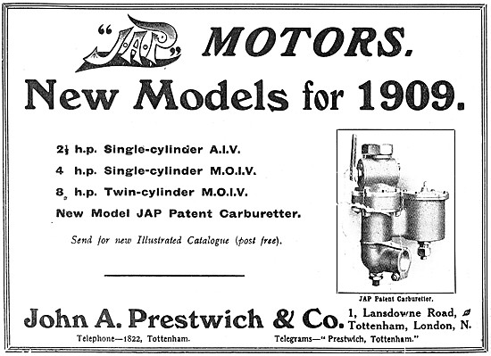 J.A.P. Motor Cycle Engines - JAP Engines