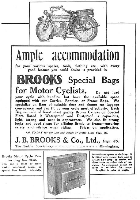 J.B.Brooks Motor Cycle Panniers & Bags