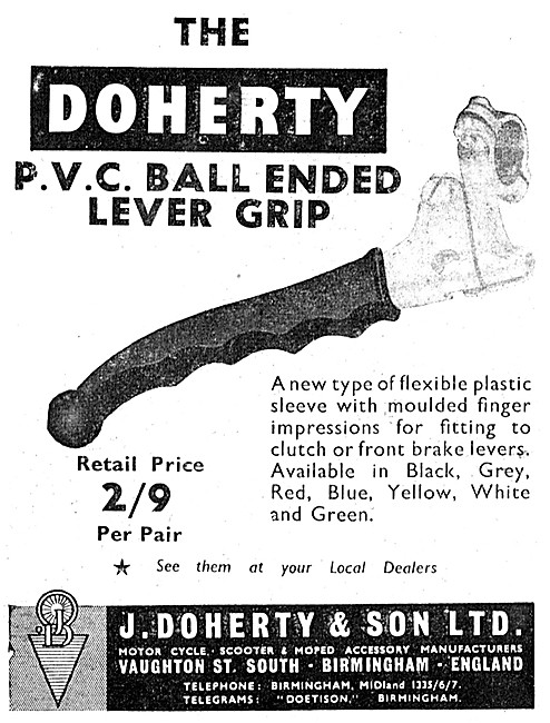 Doherty PVC Ball Ended Lever Grip