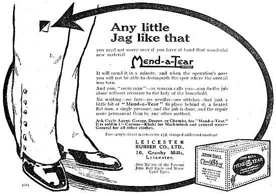 John Bull Mend-A-Tear Clothes Patches 1918