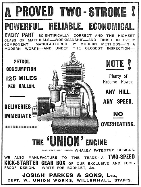 Union Motor Cycle Engines