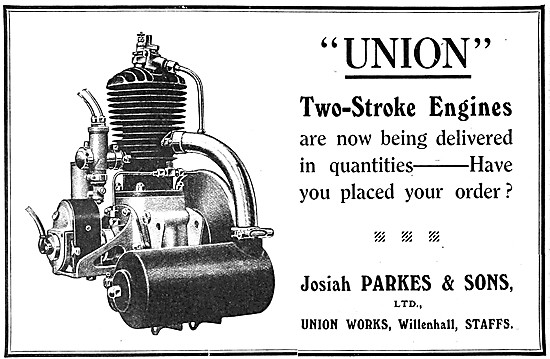 1919 Union Two-Stroke Motor Cycle Engines