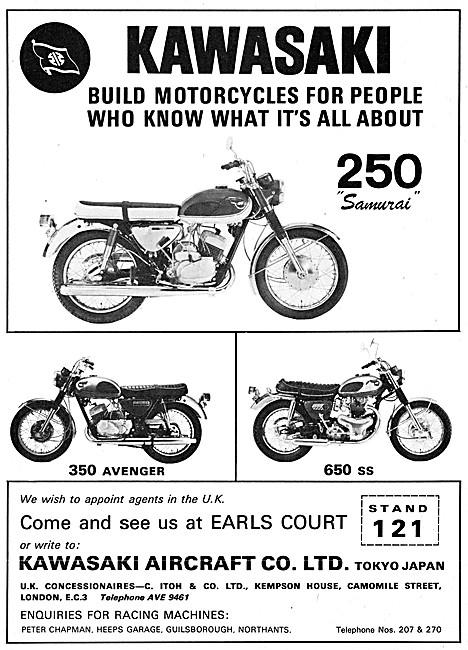 Kawasaki Samurai 250 cc - Kawasaki Avenger 350 cc - Kawasaki 650