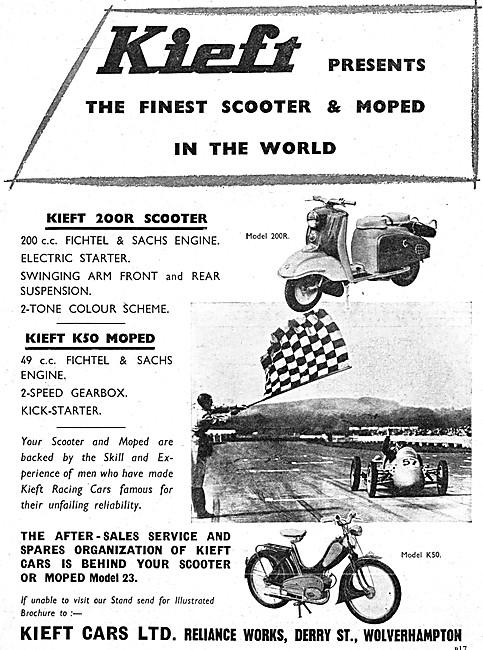 Kieft Scooters & Mopeds - Kieft 200R Scooter - Kieft K50 Moped