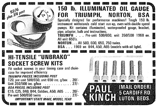 Paul Kinch Performance Parts For Motorcycles
