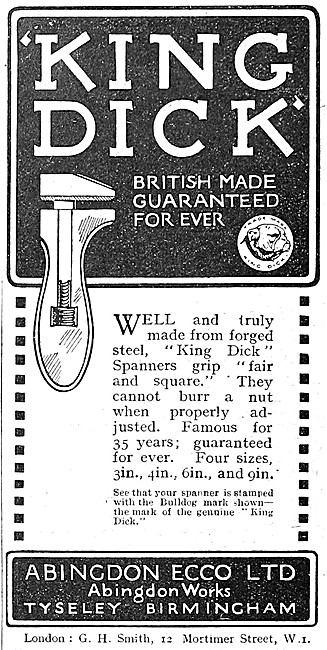 King Dick Adjustable Spanners