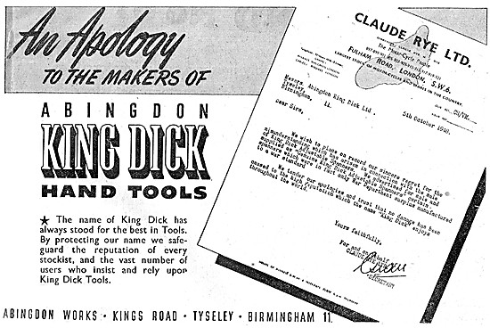 King Dick Hand Tools - King Dick Spanners & Socket Sets