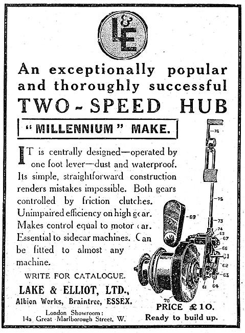 Lake & Elliot Two-Speed Hub - Millennium Hub