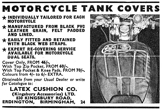 Latex Motorcycle Tank Covers