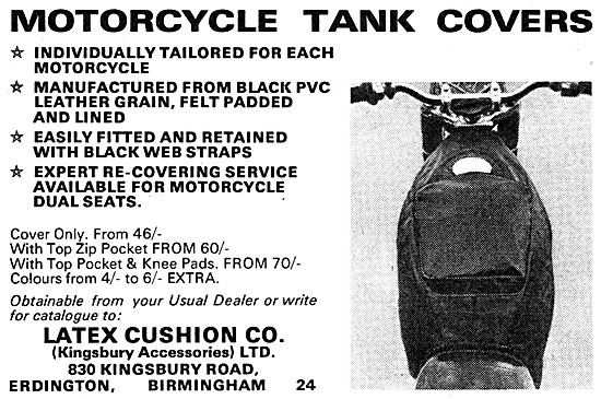 Latex Tailored Motorcycle Tank Covers