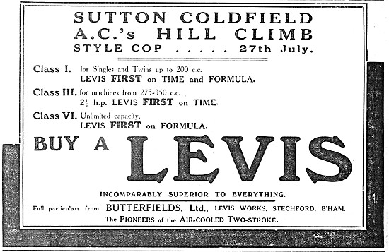 1914 Levis Motor Cycles - Levis Motorcycles