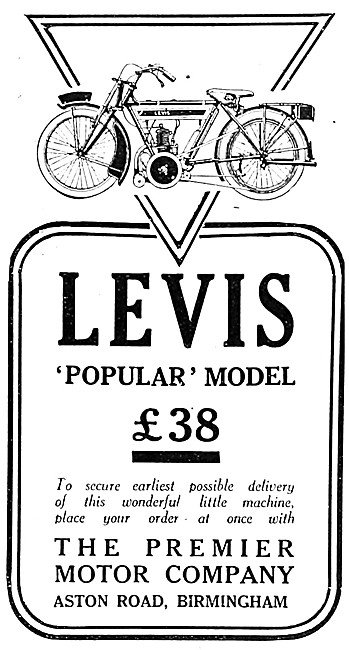 1919 Levis Popular Motor Cycle - Levis Motorcycles