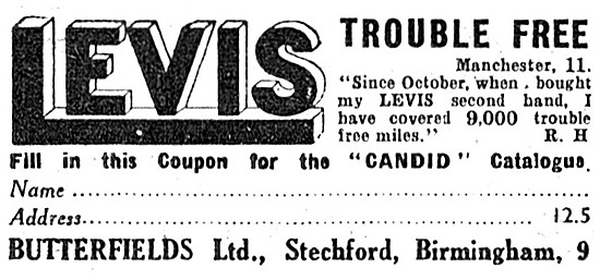 Levis Motor Cycles - Levis Motorcycles 1938