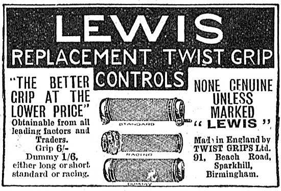 Lewis Replacement Twist Grip Controls