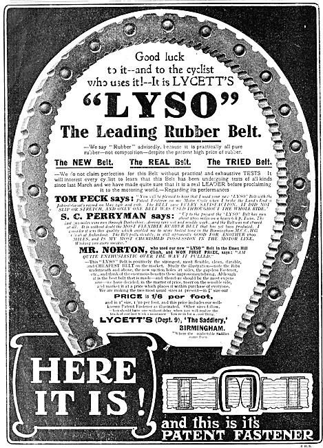 Lycett LYSO Rubber Drive Belt