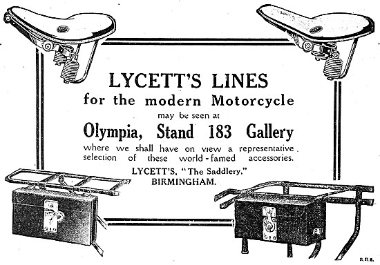 Lycett Motor Cycle Panniers 1919
