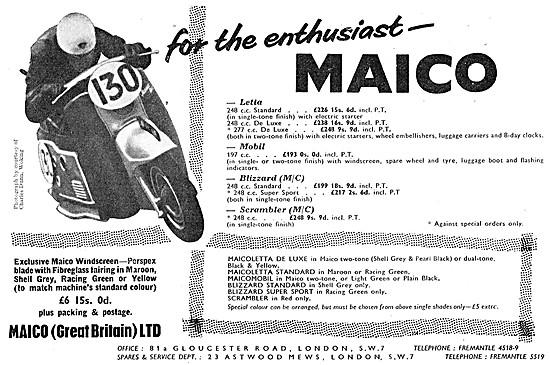 Maico Motor Scooters - Maico Letta - Maico Mobil - Maico Blizzard