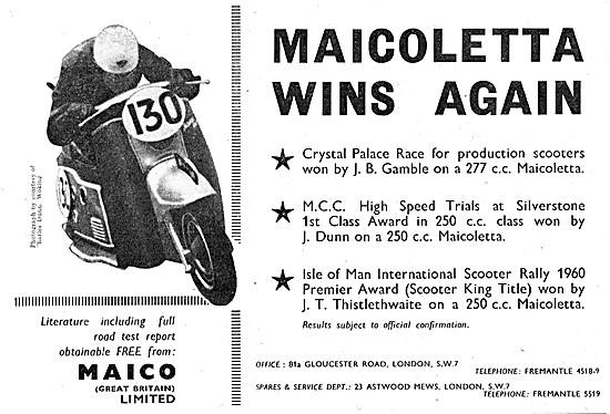 Maicoletta 277 cc Motor Scooter
