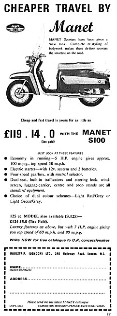Manet S100 Motor Scooter