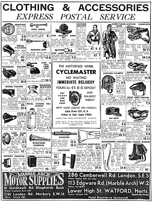 Marble Arch Motor Cycles Sales & Parts - Cyclemaster