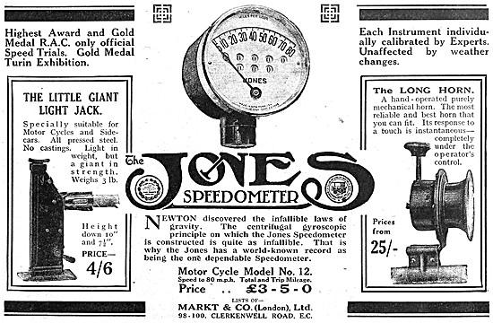 Jones Instrument Speedomoter - Jones Speedomoter