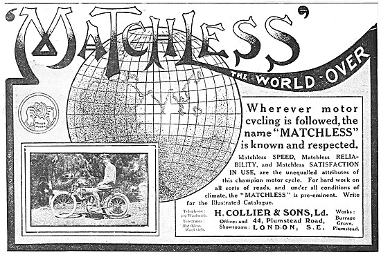 1912 Matchless Motor Cycle