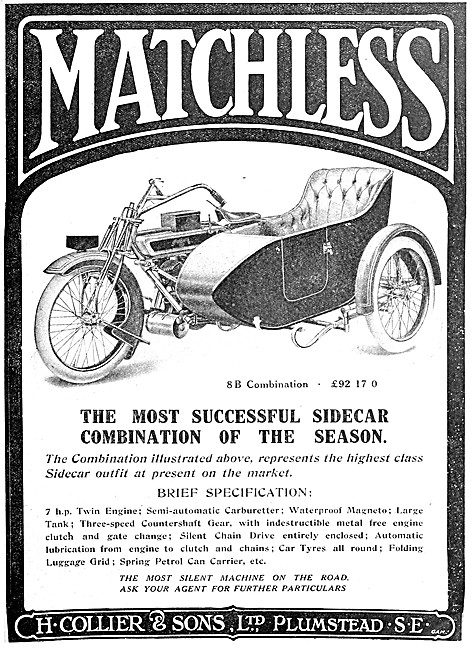 Matchless 8B Motor Cycle Combination