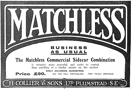 Matchless Commercial Sidecar Combination