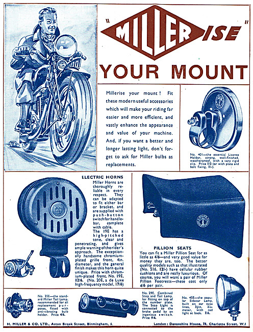 Miller Motor Cycle Accessories - Miller Electrical Products