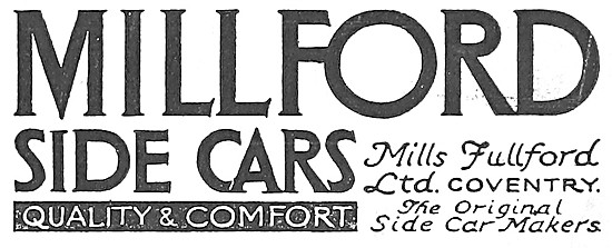 Millford Sidecars 1917