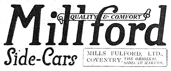 Millford Sidecars 1918