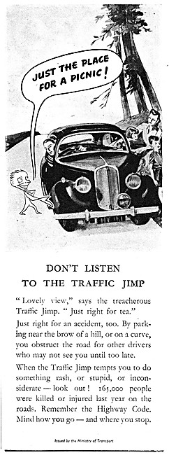 Ministry Of Transport Motor Cycle Safety Message Traffic Jimp1948