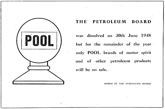 Dissolution Of The Petroleum Board 30th June 1948